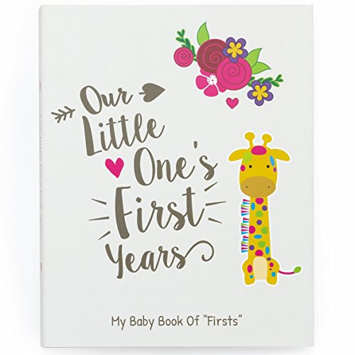 Ronica Baby Memory Book - 62 Page Photo Album and Easy to Use Keepsake Scrapbook