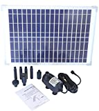 Solariver Solar Water Pump Kit - 360+GPH - Submersible Pump and 20 Watt Solar Panel for Sun Powered Fountain, Waterfall, Pond Aeration, Aquarium, Aquaculture (NO Battery Backup)