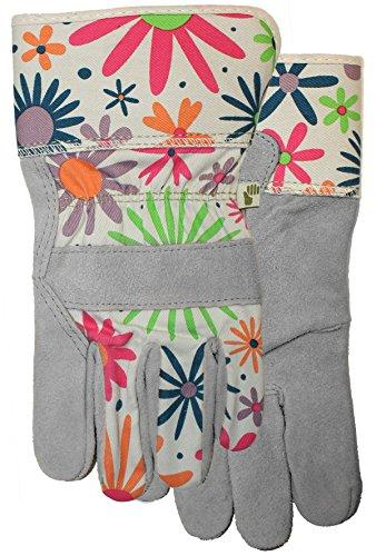Ladies Suede Garden Leather Palm with Safety Cuff Glove, 2905F6