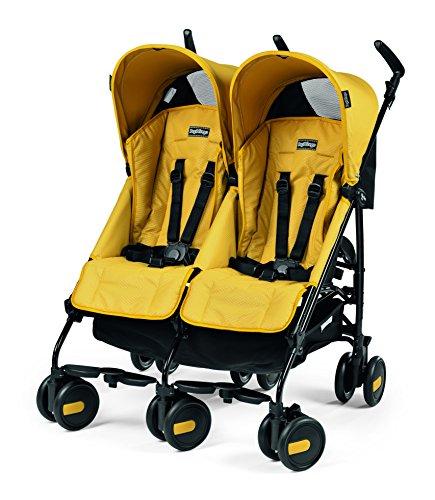 Peg Perego Pliko Mini Twin Baby Stroller, Mod Yelow