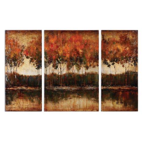 Uttermost 34207 Trilakes Canvas Art (Set of 3)