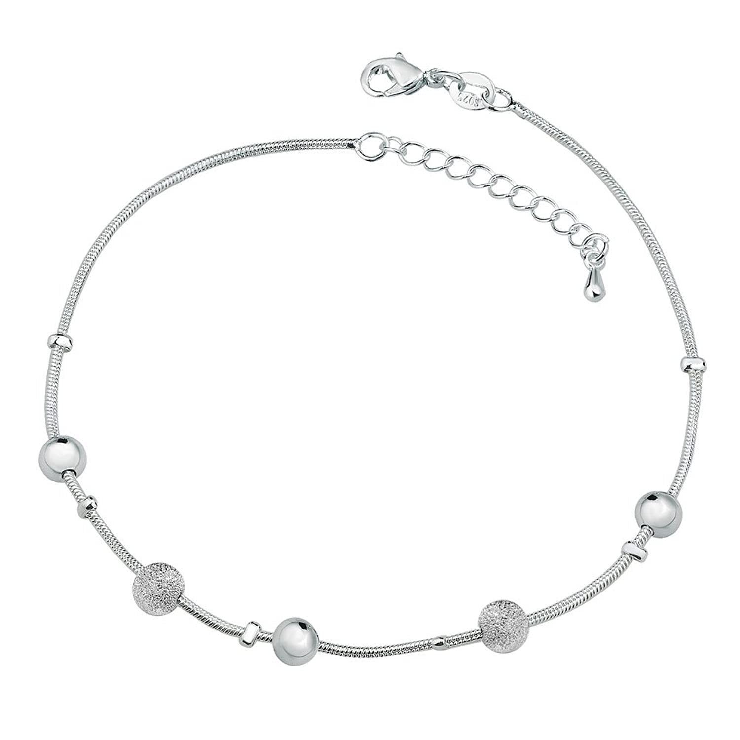 products inch bracelet sterling silver pop diamond white anklet