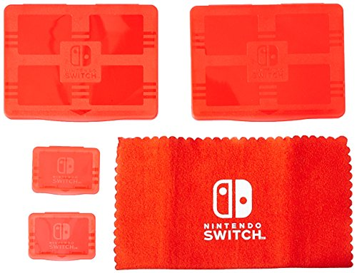 Nintendo Switch Protection Pack - Screen Protector, Cleaning Cloth, Game Card Cases, Micro SD Cases