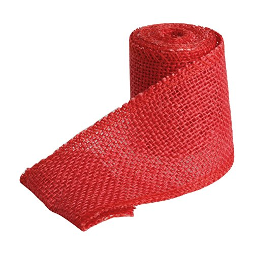 cici store 6M Natural Jute Burlap Ribbon Strap Crafts Jute for Wedding Home Craft Decorations (red)