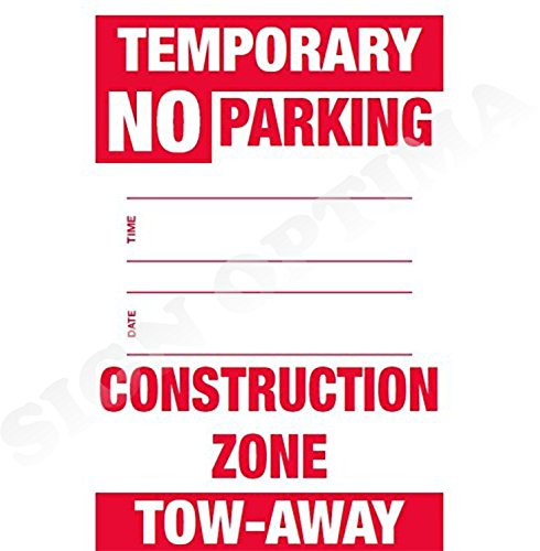 Pack of 2 Temporary NO Parking Sign with Date and Time,Construction Zone (2 Signs) (Signs Construction Temporary)