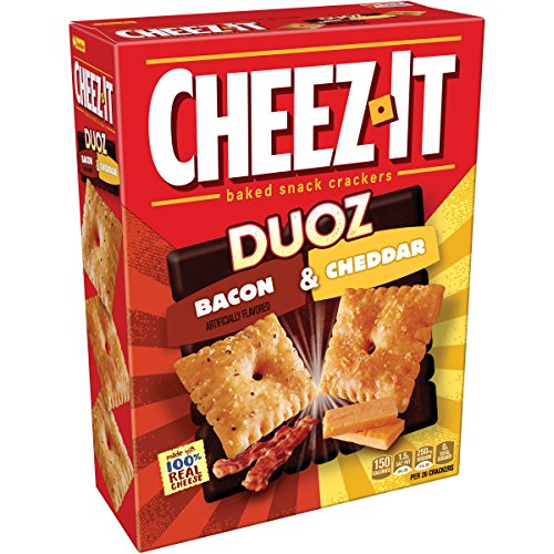 Cheez-It Duoz Bacon & Cheddar Cheese Baked Snack Crackers, 12.4 oz