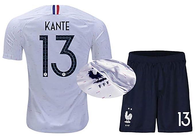 LONGMM Ropa de fútbol Trajes para Hombres y Mujeres 2019 Camisetas francesas No. 10 Mbape campeón Equipo Nacional Local 7 Griezmann de Distancia 6 Bogba ...