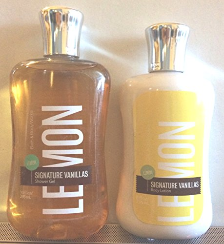 Lemon Vanilla 10 Oz Shower Gel & 8 Oz Body Lotion (Set of Two)