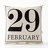A.B Crew Creative British Style 2 in 1 Cotton Linen Pillow Quilt Blanket Lumbar Supports Throw Pillow Back Cushion(February 29)