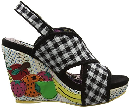 Platform Sandals Black Black Bahama Irregular Mama Choice Women's wqI8RI
