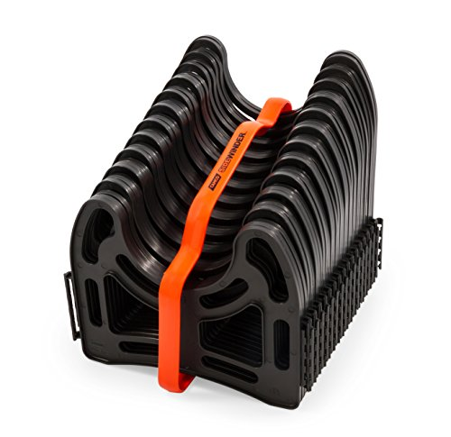 (Camco 15 Feet 15ft Sidewinder RV Sewer Support, Made from Sturdy Lightweight Plastic, Won't Creep Closed, Holds Hoses in Place-No Need for Straps (43041))