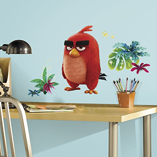 Cheap  RoomMates RMK3212GM Angry Birds the Movie Red Peel and Stick Giant Wall..