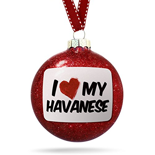 NEONBLOND Christmas Decoration I Love My Havanese Dog from Ornament