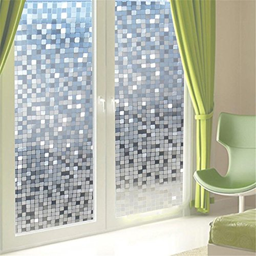 Window Static Film Privacy 3D PVC Blocking Glass Panel Sticker Waterproof Window Glass Sticker 45x100cm