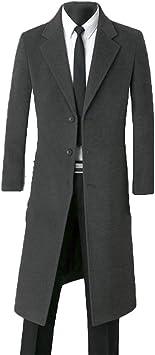 メンズカシミアオーバーコートウィンズウェアシングルボタンウールカジュアルX-ロングシックウールコートプラスサイズ