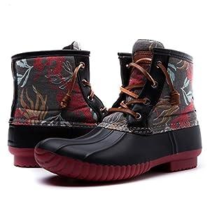 Women's GW Nylon Textile Duck Rain Boots