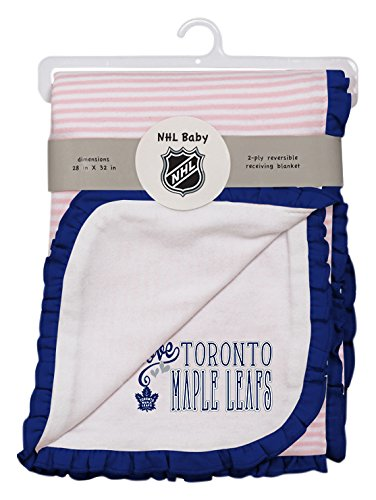 NHL Toronto Maple Leafs Layette Newborn Love Blanket, One Size, (Nhl Baby Blanket)