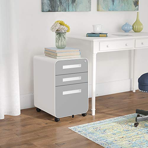 3-drawer file cabinet on wheels