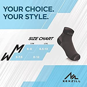 NEWZILL Plantar Fasciitis Socks with Arch Support, BEST 24/7 Foot Care Compression Sleeve, Eases Swelling & Heel Spurs, Ankle Brace Support, Increases Circulation, Relieve Pain Fast (S/M, Black)