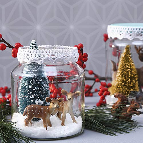 Mewtogo 36pcs Mini Sisal Trees Miniature Christmas Trees For Craft