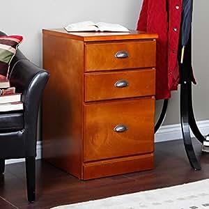 Valona Custom Three Drawer Filing Cabinet - Oak