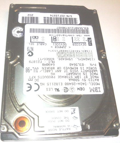 Ibm Travelstar Laptop Hard Drive - DADA-26480 Ibm 6.49gb 12.5mm Hard Drive For Thinkpad