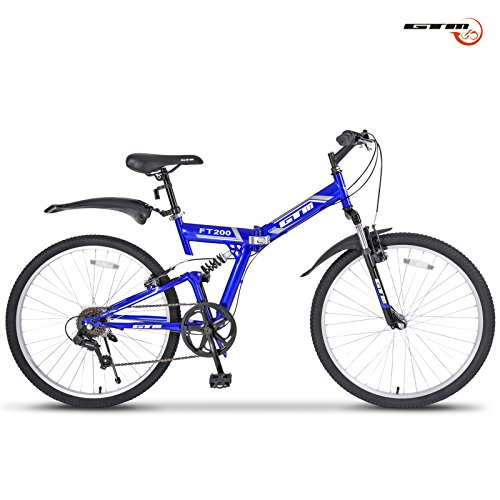 gtm-26-7-speed-folding-mountain-bike-bicycle-shimano-hybrid-suspension-mtb-blue