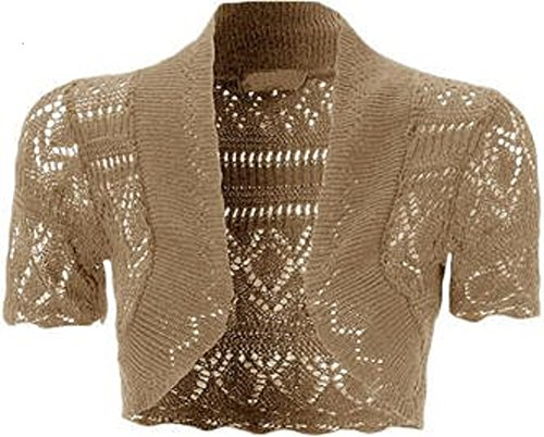 Moka Top Crochet Momofashions 42 Ladies tricot Bolero 36 Cardigans Shrug FrgzqXF