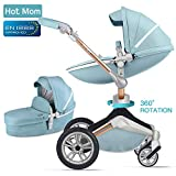 Hot Mom Pushchair 2018,3 in 1 Travel System with 360 Rotation Function,Blue