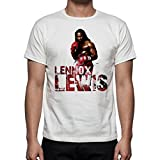 Palalula Men's Boxing Lennox Lewis Tribute T-Shirt XXXXL White