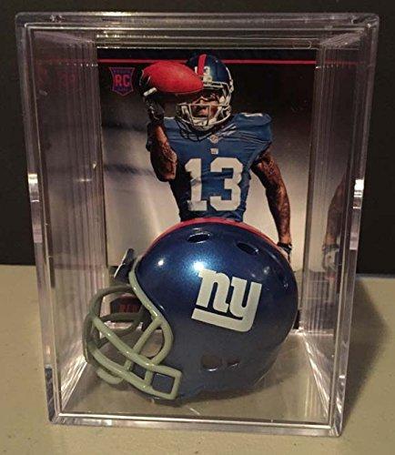New York Giants NFL Helmet Shadowbox w/ Odell Beckham Jr. card