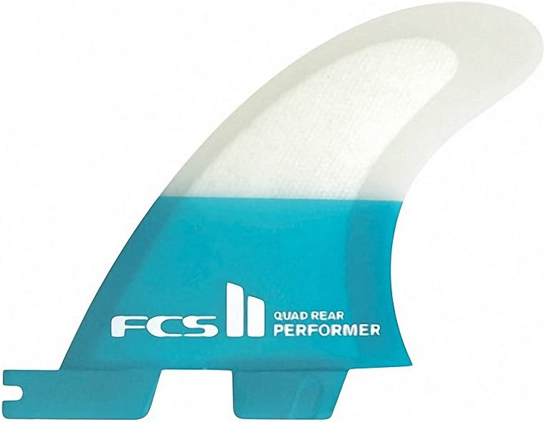 FCS Performer PC Quad Rear Fin Set - Teal - Select Size