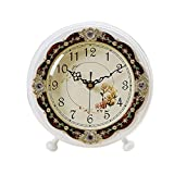HAOFAY clock - Table Clock, European-style Living Room Bedroom Mute Creative Simple Table Clock, Desktop Bedside Clock