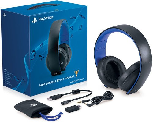 Video Games : PlayStation Gold Wireless Stereo Headset - Jet Black [Old Model]