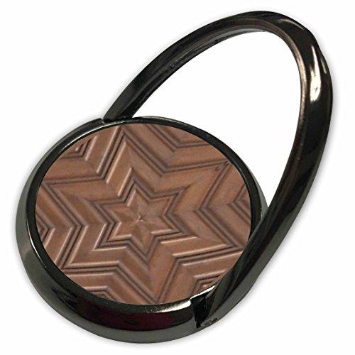 3dRose InspirationzStore Judaica - Magen David stars - photo print of wood carving - brown wooden Jew symbol - Judaism - Jewish gifts - Phone Ring (phr_155683_1) -