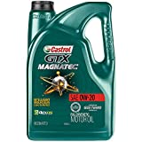 Castrol 03060 GTX MAGNATEC 0W-20 Full Synthetic Motor Oil, Green , 5 Quart