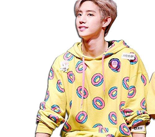 4411cca61cd736 Kpop EXO BTS GOT7 Just Right Mark Jumper Hoodie Cute Donut Unisex Sweater ( XL