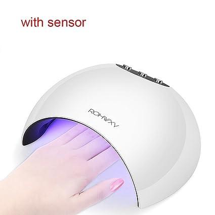 Ferrell 24W LED secador de uñas con temporizador lámpara UV gel recargable polaco curado luz manicura