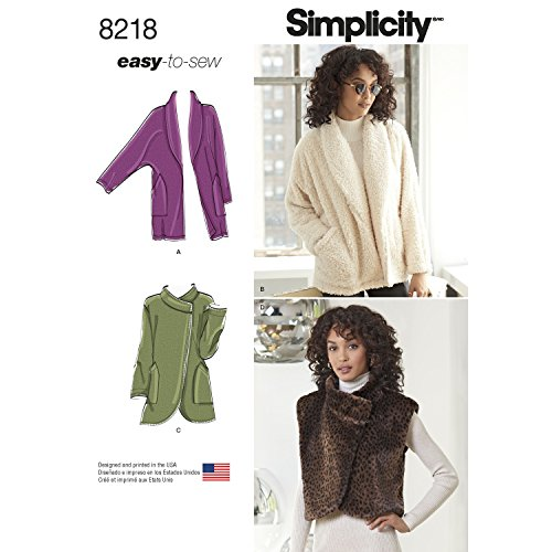 (Simplicity Creative Patterns Simplicity Pattern 8218 Misses' Easy-to-Sew Jackets and Vest)