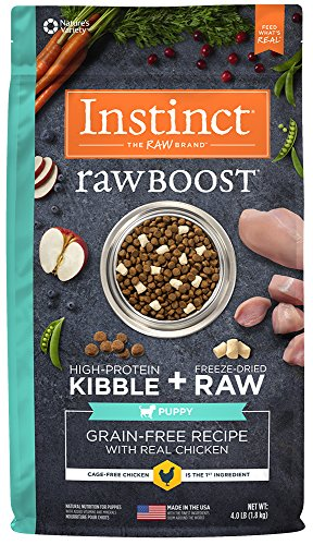 Instinct Raw Boost Puppy Grain Free Recipe with Real Chicken Natural Dry Dog Food by Nature's Variety, 4 lb. (Natures Best Puppy Food)