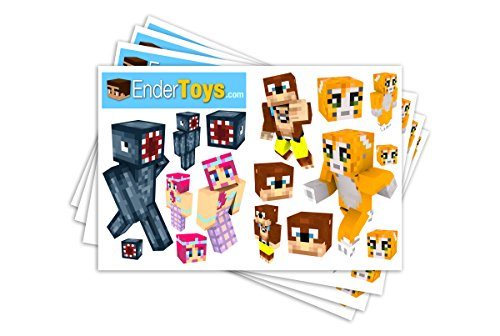 [Orange Cat Sticker Pack Bundle, Four Sheets, EnderToys] (Ghast Minecraft Costume)