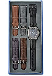 New Mens Invicta 19946 Grand Lupah Chronograph Watch w/ Five-Piece Leather Strap