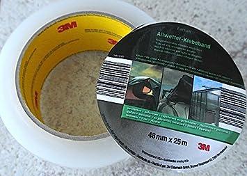 Tartan® Allwetter Klebeband Transparent, Robust, 3M 48mmx25m extrem stark, OSMA Werm