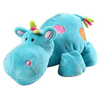 Blue Hippo Soft Toy Cuddly Animal For Baby Boy Amazon Co Uk Baby