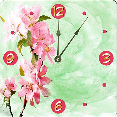 Rikki Knight Pink Spring Blossoms Soft Green Design 10
