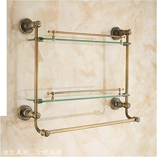 low-cost antique cosmetics rack/European-style antique bathroom storage shelves/towel rack/Bathroom glass frame/shelf