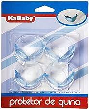 Kit 4 Protetores de Quina Arredondados, Kababy, Transparente, Kababy, Transparente