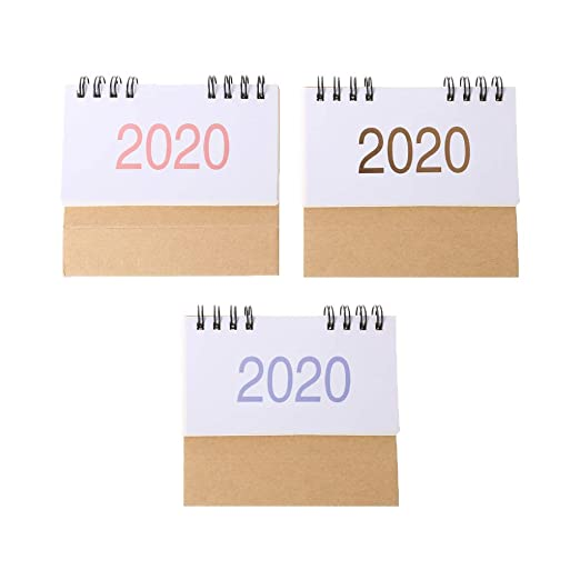 Lifet Simple - Calendario de mesa 2020, calendario de dos bobinas ...