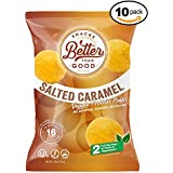 Besser Than Good Snacks - Salted Carmel Veggie Protein Puffs 16g Protein - 2 Serving of Fruits & Veggies, Low Carb, Low Sugar, 110 Calories Keto Friendly, Diabetic Healthy Snack