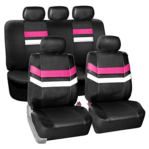 FH GROUP PU006115 Varsity Spirit PU Leather Seat Covers, Air